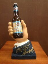 Vintage Leinenkugel's Brewing Co. Backbar Hand Store Display Holding a Beer