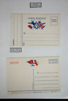 France Lot of 2 WWII Field Service Flag Cards