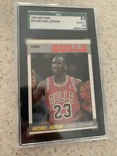 1987-88 Fleer Basketball #59 Michael Jordan, Chicago Bulls HOF SGC 6.5! Psa