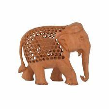 Wooden Jali Carving Elephant Showpiece Indian Gift/Souvenir