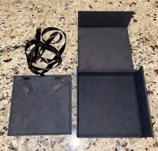 David Yurman Large Black Empty Necklace / Jewelry Storage Display Box