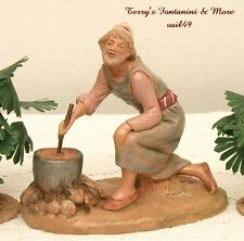 "FONTANINI DEPOSE ITALY 5"" GERA NATIVITY VILLAGE THE COOK FIGURE 65128 NEW NO BOX"
