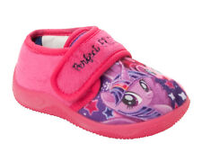 GIRLS OFFICIAL MY LITTLE PONY CHARACTER PINK LILAC SLIP ON SLIPPERS UK SIZE 6-12