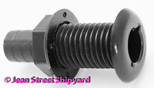 Marine Black Bilge Pump Aerator Pick Up Thru Hull Fitting  3/4 in Barb 18151