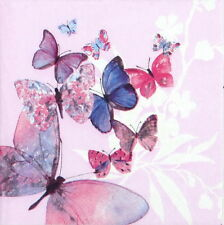 4x Tovaglioli di carta per Decoupage Decopatch VINTAGE FLYING Magic