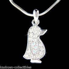 w Swarovski Crystal Cute ~Baby Emperor Penguin Antarctica Jewelry Charm Necklace