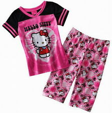SUPER ENSEMBLE T-SHIRT + PANTALON HELLO KITTY 7-8 ans EFFET TIE & DYE BY SANRIO