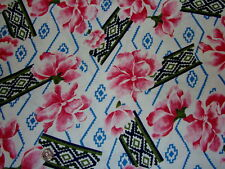 G Pink Floral Lace Poly Knit Fashion Sewing Fabric 1 yd  hobby craft top skirt