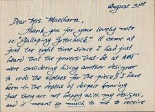 American Ballet GRETCHEN WARD WARREN Autograph Letter Signed