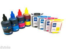NON-OEM Refillable Cartridges Kit For HP88 L7580 L7680