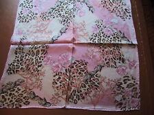 Passigatti silk square scarf Coral/animal print     NEW