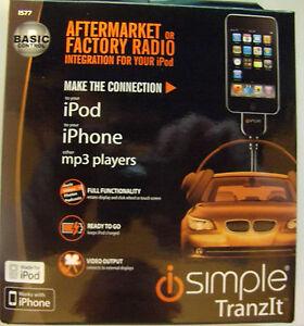 IS77 iSimple Tranzit iPod/iPhone/MP3 Adapter Aux Input Universal Fm Modulator
