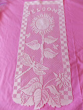 HERITAGE LACE IVORY SUNFLOWER WALL HANGING 12 X 29 ITEM 2948