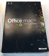 Microsoft Office 2011 Mac Home & Business 1 user 2 macs GENUINE OS X