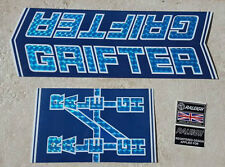 "Raleigh ""GRIFTER MK2  BLUE PRISMATIC DECAL SET "" bike decals/stickers"