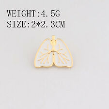 New Fashion Cute Anatomy Heart Brooch Gold White Enamel Pins Medical Jewelry