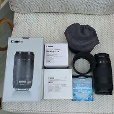 Canon EF 70-300mm F/4-5.6 IS II USM Lens Canon Case Canon Hood & Hoya Protector