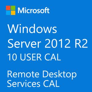 Windows Server 2012 / 2012 R2 Remote Desktop Services RDS 10 USER CAL License