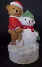 Santa Bear & Snowman Music Box plays We Wish You a Merry Christmas