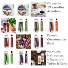 Astrofood – choose from 13 sorts – Russian cosmonaut space food tubes cans ISS