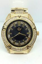 Men's Fashion Watch With Analog Quartz In A Gold Plated Stainless Steel, Crystal