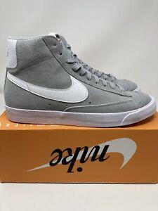 Nike Blazer Mid '77 Suede Light Smoke Grey White CI1172-004 Men's Size 14 No Lid