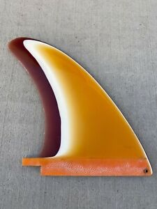 "8 7/8"" Vintage Rax Works Wings rainbow color surfboard fin 1970s"