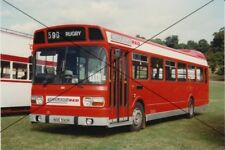BUS PHOTO MIDLAND RED PHOTOGRAPH PICTURE LEYLAND NATIONAL WOBURN ABBEY NOE590R.