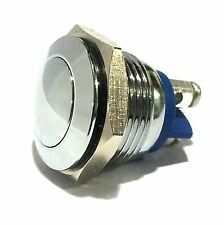 NEW 16mm Anti-Vandal Momentary Stainless Steel Metal Push Button Switch Off-(ON)