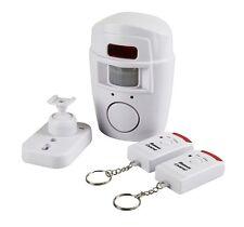 Wireless PIR Motion Sensor Alarm + 2 Remote Controls Home Shed Garage Caravan