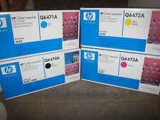 HP Q6470A Black Q6471A Cyan Q6472A Yellow Q6473A Magenta Toner Cartridge 502A