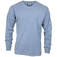 Comfort Colors Men's Adult Long Sleeve Tee, Style 6014,, Blue Jean, Size Large