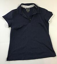 Adidas Womens golf polo shirt climacool size M dark blue (t1)