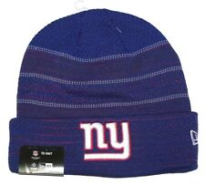 Nwt New York Giants ny Logo NFL Football Beanie Cap Hat Rolled Cuff Blue  Red Men 19218d83e