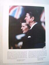 Ronald Reagan print 15/450 Margaret Thatcher speech to Heritage Foundation 1997