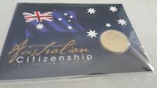 2016 $1 Unc Australian Citizenship Coin On Card