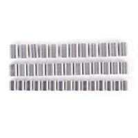100x Premium Aluminum sleeves for monofilament Rigging Trace Leader Crimps TT