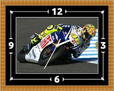 Valentino Rossi Wall Clock Gift Present Christmas Birthday (Can Be Personalised)