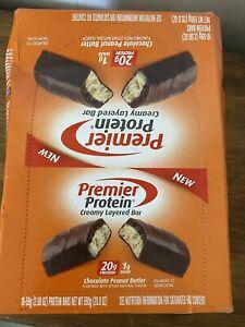Premier Protein Chocolate Peanut Butter Creamy Layer Protein Bars 20g Protein