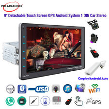 9''1 Din GPS Android Car Radio Airplay+Dongle+CAM+DVR Touch Screen WiFi BT FM