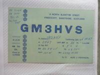 OLD VINTAGE QSL HAM RADIO CARD. FINDOCHTY, SCOTLAND. 1957