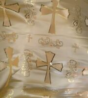 LITURGICAL CLERGY JACQUARD BROCADE FABRIC GOLD CROSS ALTAR PASTOR DRESS BY YARD