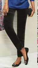 NWT $99 TALBOT'S BLACK VELVETEEN HAMPSHIRE ANKLE PANTS 22W