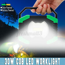 COB LED Floodlight Rechargeable Solar Work Light Outdoor Camping Emergency Lamp
