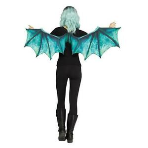 Adults Dragon Wings Demon Fancy Dress Medieval Green Blue Game Thrones
