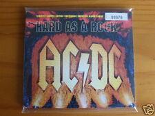 "RARE !!! DIGIPACK AC/DC ""HARD AS A ROCK"", 2 TITRES, SERIE LIMITEE, TRES BON ETAT"