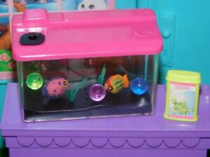 Barbie sized dollhouse furniture fish tank ocean world aquarium diorama lot Pink