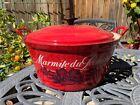 Le Creuset Extra Large Jam Red Seafood Cast Iron Pot Vintage Rare