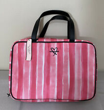 Victorias Secret NWT Graphic Multi Color Hanging Travel Cosmetic/Toiletry Case