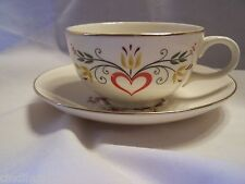 Vintage AMERICAN PROVINCIAL CUP & SAUCER Homer Laughlin FARMER  WIFE Amish